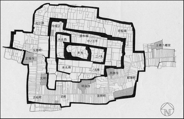 城下町復原図
